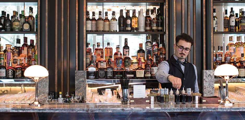 The bartender at the Belmond Cadogan hotel