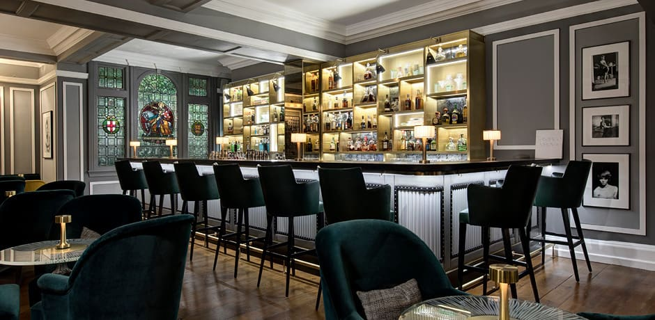 The newly renovated Donovan Bar at Brown's features cocktails by Salvatore Calabrese. Courtesy Brown's.