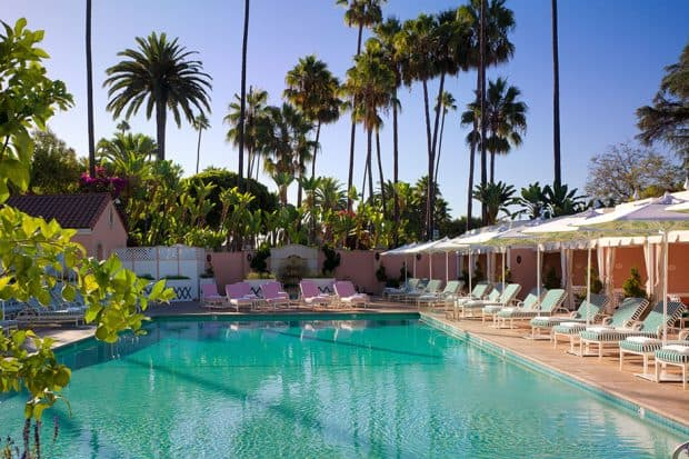 Pool at the Beverly Hills Hotel in Los Angeles