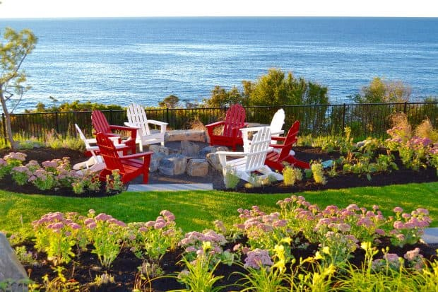 Fire pit at Cliff House