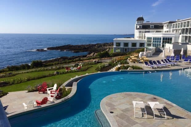 The swimming pool at Cliff House hotel in Maine