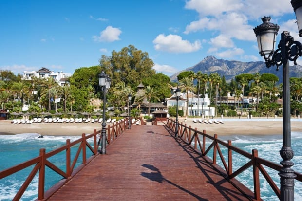 Pier at Puente Romano Marabella Beach Resort in Andalusia, Southern Spain