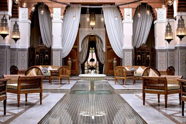 Royal Mansour lobby in Marrakesh Morocco