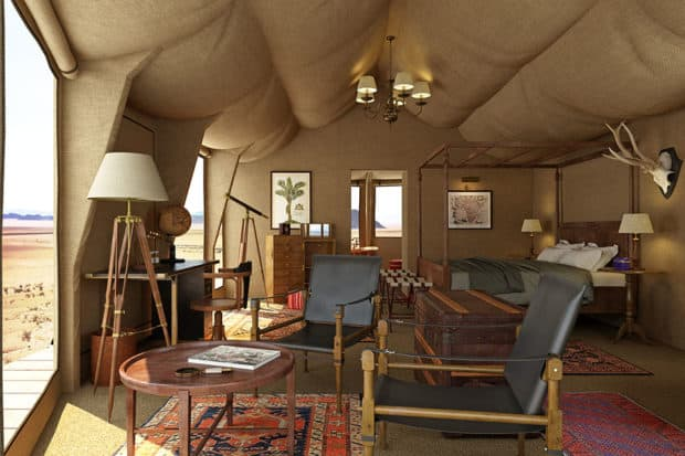 A tent at Sonop Lodge