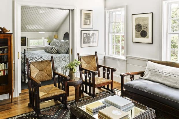 Suite with living room and bedroom at Greydon House in Nantucket
