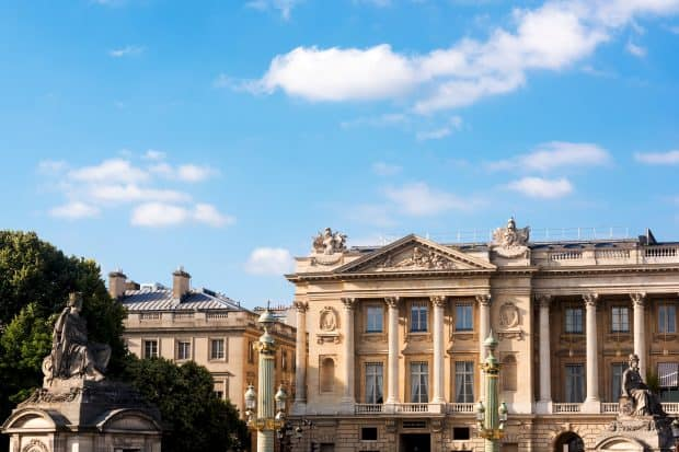 Exterior of Hôtel de Crillon in Paris