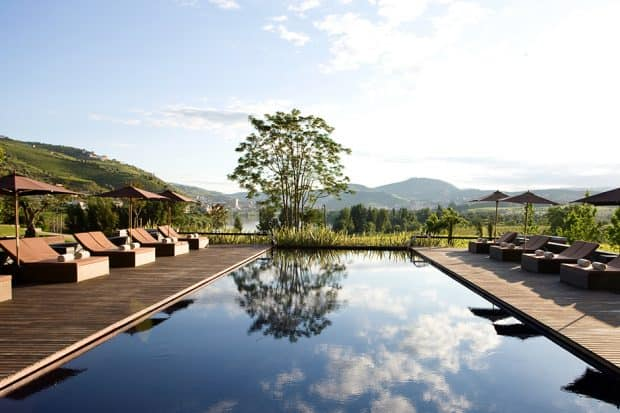 The outdoor pool at the Six Senses Douro Valley