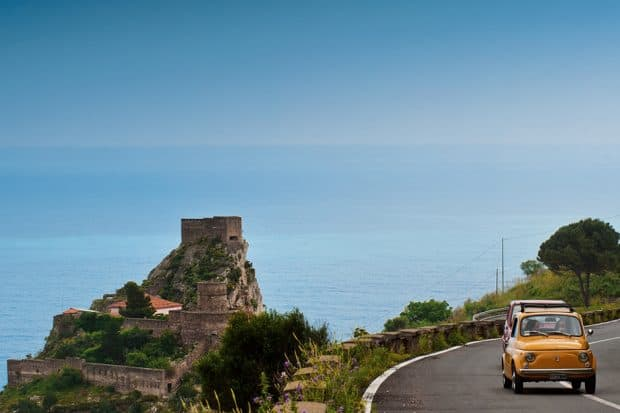 Driving in Sicily, Courtesy Grand Hotel Timeo