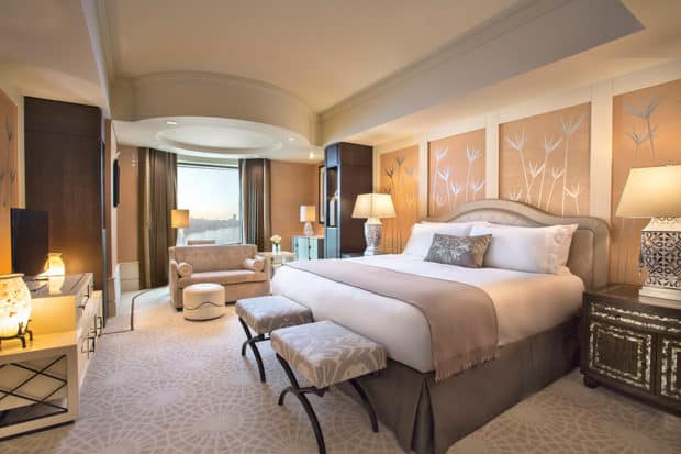 A guestroom at the St. Regis Cairo. Courtesy of St. Regis Hotels and Resorts