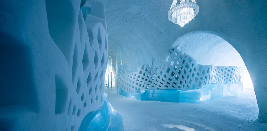 Inside Sweden's Icehotel, the world's first such property. Photo by Asof Kliger courtesy Icehotel