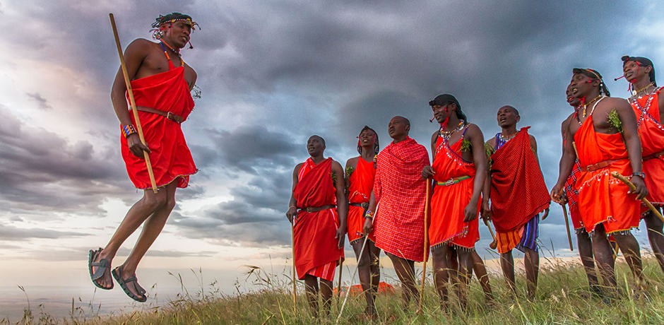 Maasai warriors in Tanzania, courtesy &Beyond