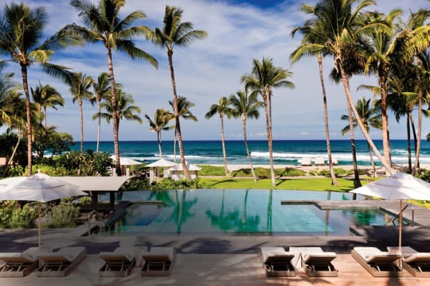 Pool at Four Seasons Resort Hualalai in Hawaii