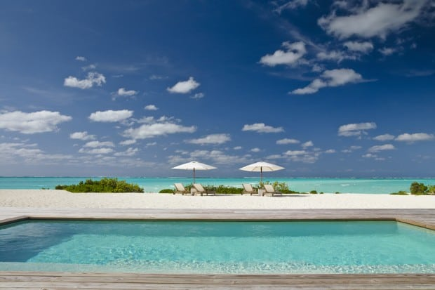 Pool and sea view at COMO Parrot Cay, Turks & Caicos, Caribbean