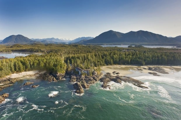 Aerial view - Wickaninnish Inn, Vancouver Island, Canada - Photo Chris Pouget