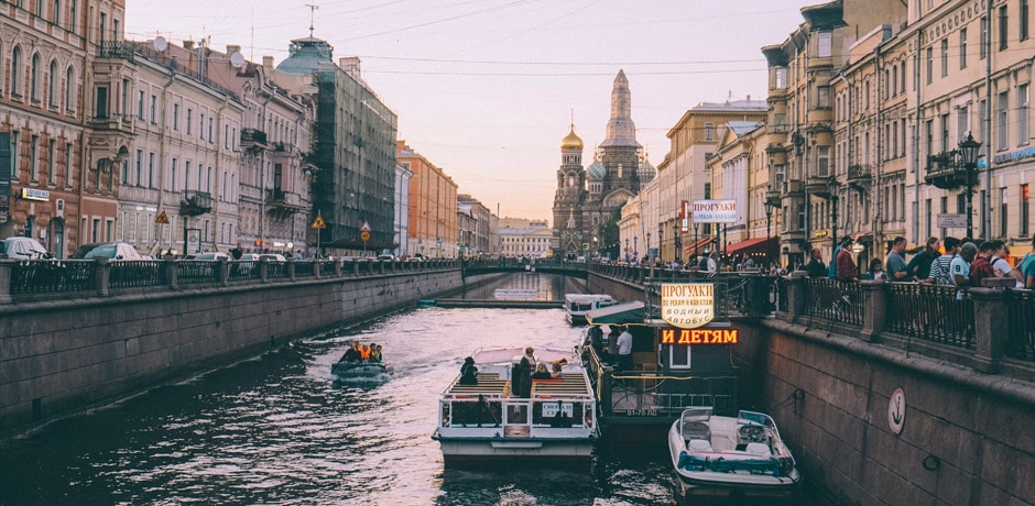 The iconic canals of St. Petersburg; Photo by Puja Lin