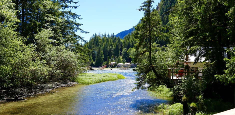 Fly-fishing is one of the top activities offered at the Clayoquot Wilderness Resort in Vancouver Island, Canada.