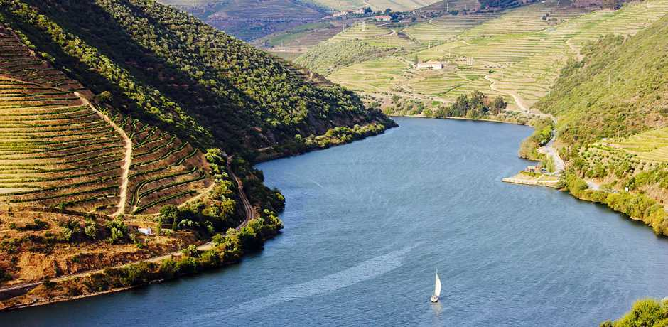 Thanks to the Douro River, the Douro Valley region produces some of the best wines in Portugal. Courtesy Six Senses.