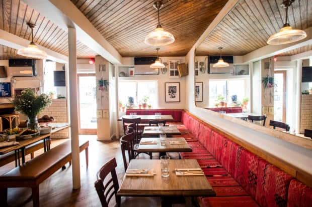 The cozy interior of The Jones on Great Jones Street receives a fresh update in lower Manhattan. Photo by Eric Medsker.