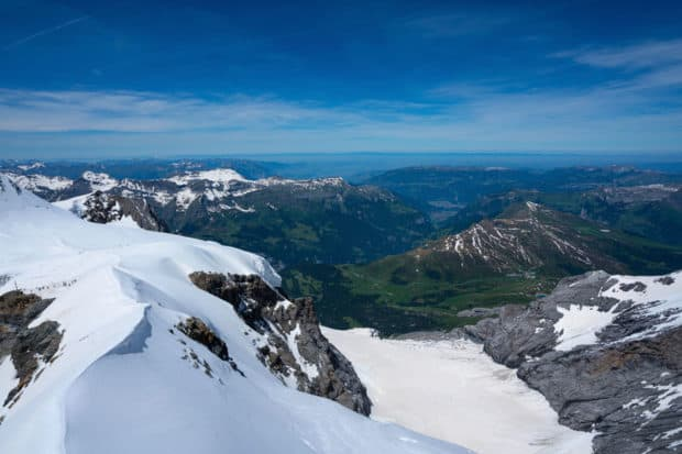 Overview of the Jungfrau region, taken from the Jungfraujoch at 11,000 feet, Courtesy Ian Tibbals