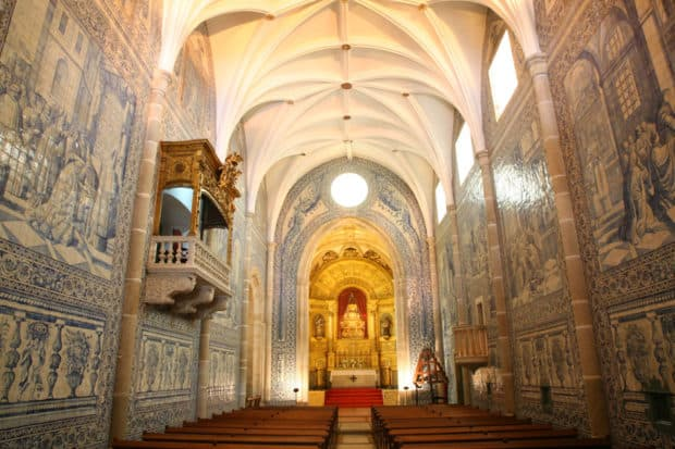 The church at Cadaval Palace in Évora. Courtesy Diana de Cadaval