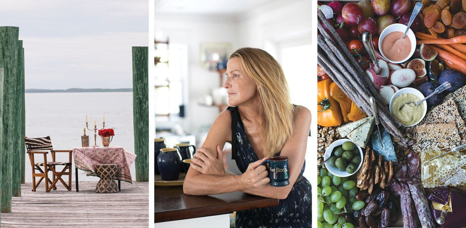 A dockside table for two on Harbour Island; India Hicks; a pretty platter, always a good idea. Photos © India Hicks and Brittan Goetz and © David Loftus, courtesy Rizzoli