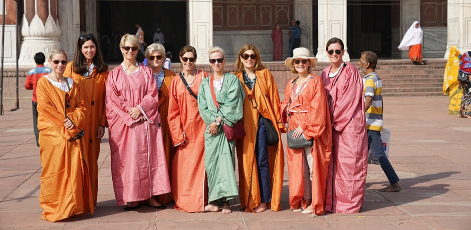 Members on an Insider Journey to Jaipur, India with textile designer Lisa Fine.