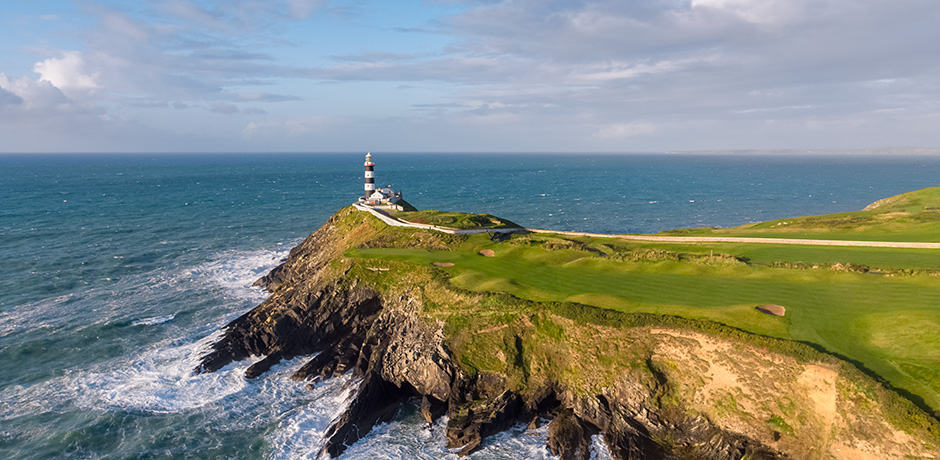 The Old Head of Kinsale Light is a literal beacon of the prestigious golf course. Courtesy Old Head Golf Links