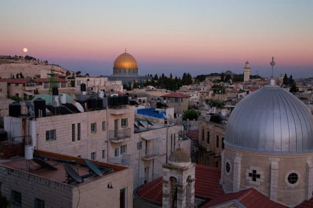 A view over the Old City of Jerusalem