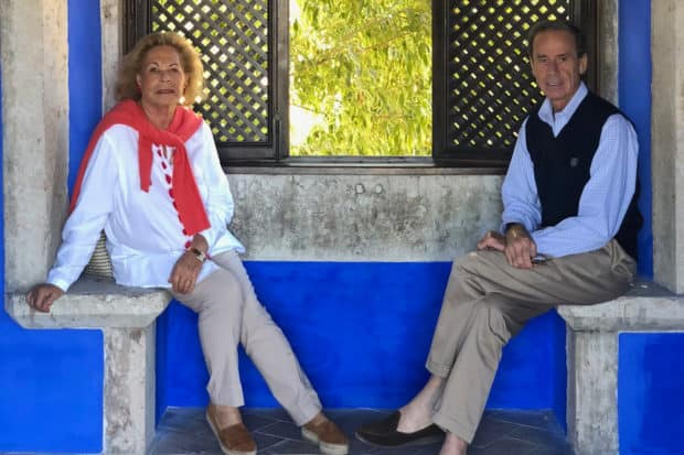 Jackie de Ravenel, left, and her husband, Jean-Charles de Ravenel, right, at the Palacio da Fronteira—one of Lisbon's best kept secrets. Travelers on the September AD x Indagare Insider Journey will enjoy an exclusive tour of the property and its gorgeous Italian-style gardens, followed by a luncheon.
