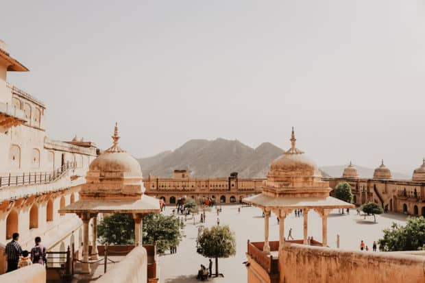 A view from the Amber Palace, Jaipur.