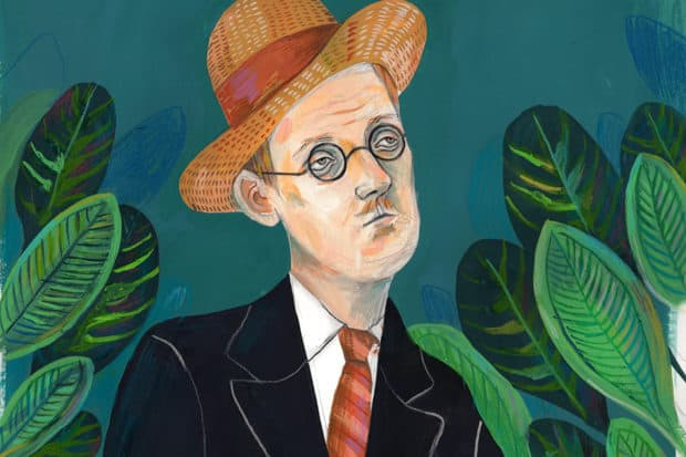 Art and artifacts celebrating the career of James Joyce will be one of the many highlights of MoLI. Courtesy MoLI, illustration by Helena Perez Garcia.