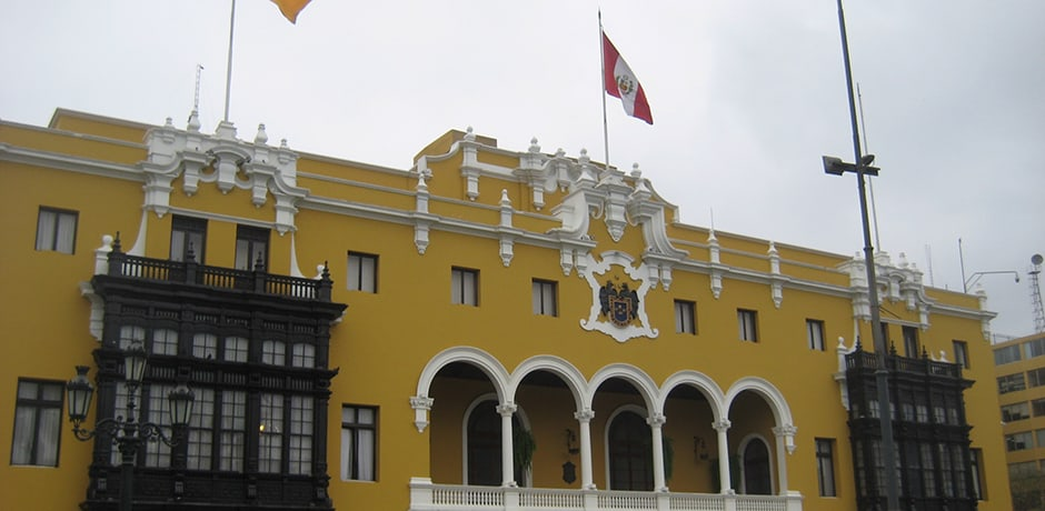 Lima's Plaza Mayor has been the historic heart of Lima since the city's founding in 1535.
