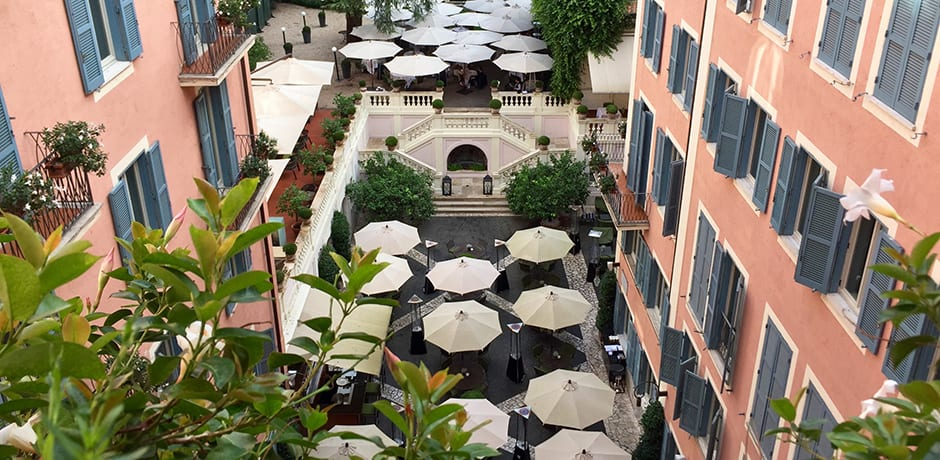 One of Hotel de Russie's greatest features is its stunning courtyard