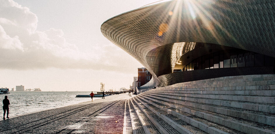 Lisbon's waterfront is dotted with historical monuments and contemporary art museums, including the MAAT, which travelers will tour with an expert curator on our September Insider Journey with AD.