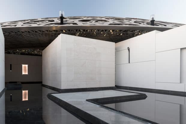 The Louvre Abu Dhabi. Courtesy Jenny Holzer, Photography by Marc Domage.