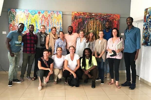 Melissa and travelers on the Rwanda Indagare Journey visit Inema Arts Canter