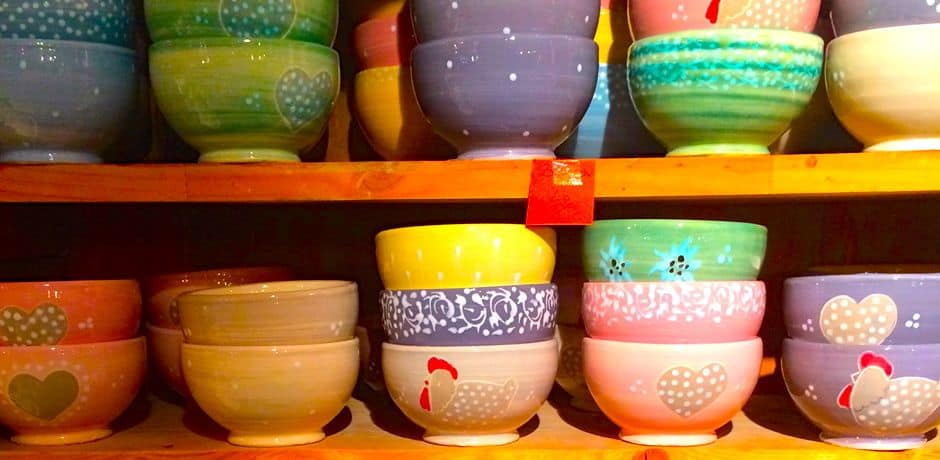 Adorable, handcrafted pottery from Poterie Pénélope.