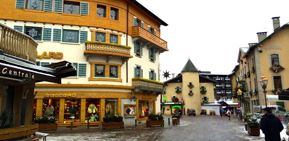The main streets in Megève are pedestrian-only.