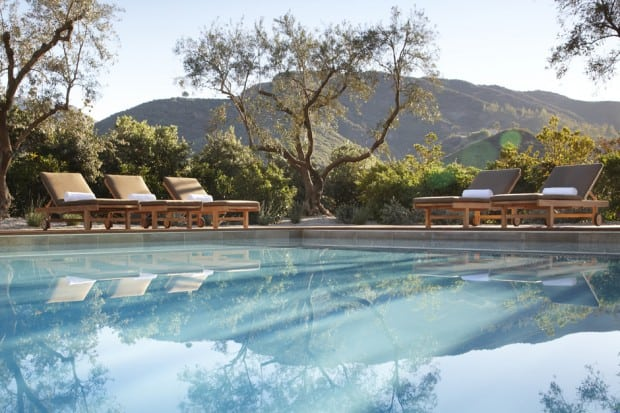 The outdoor pool at the Ranch at Live Oak in Malibu