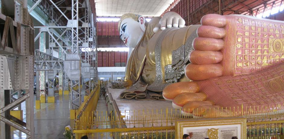 Close to the Shwedagon Pagoda, this beautifully serene reclining Buddha is massive (some 230 feet long) and housed in a soaring hall.