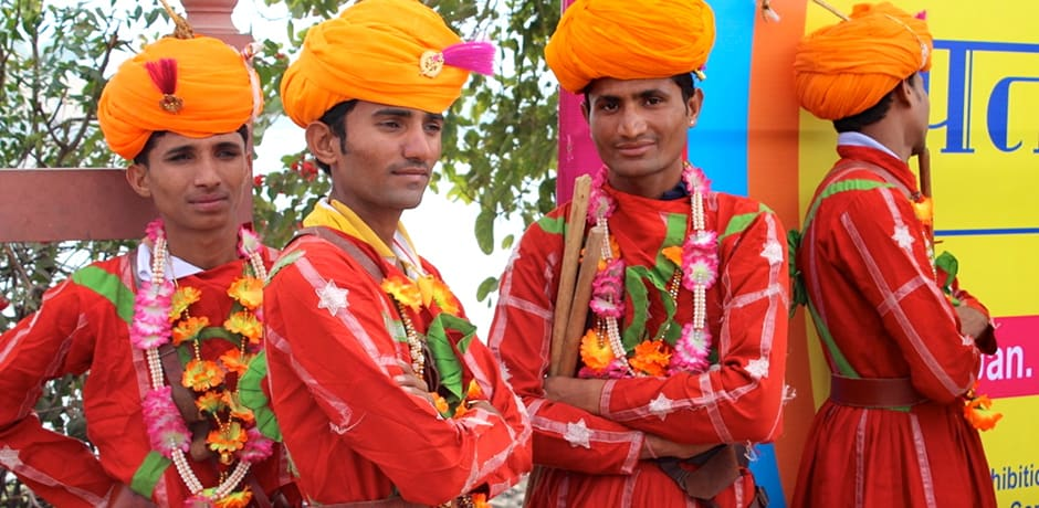 Performers at the annual Jaipur Kite Festival.