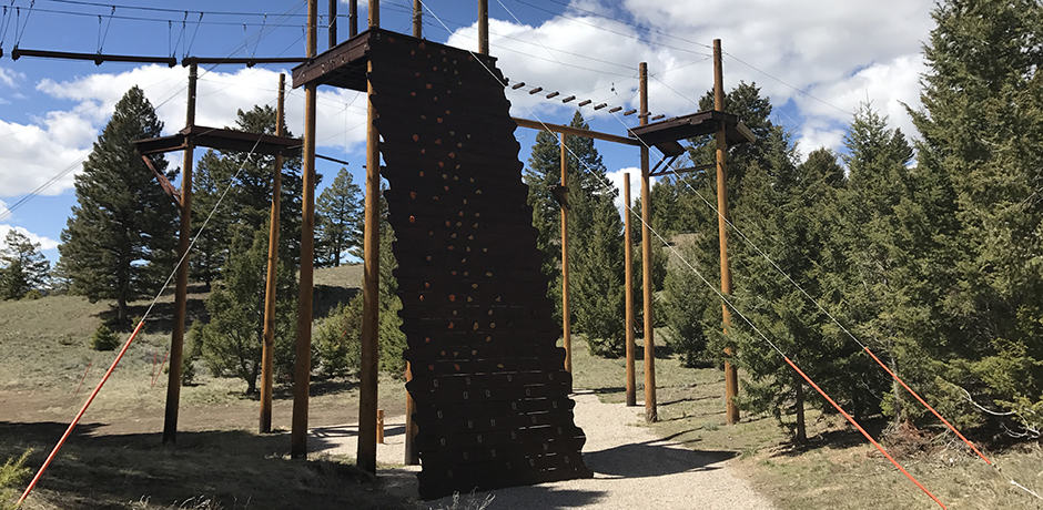 The ropes course.