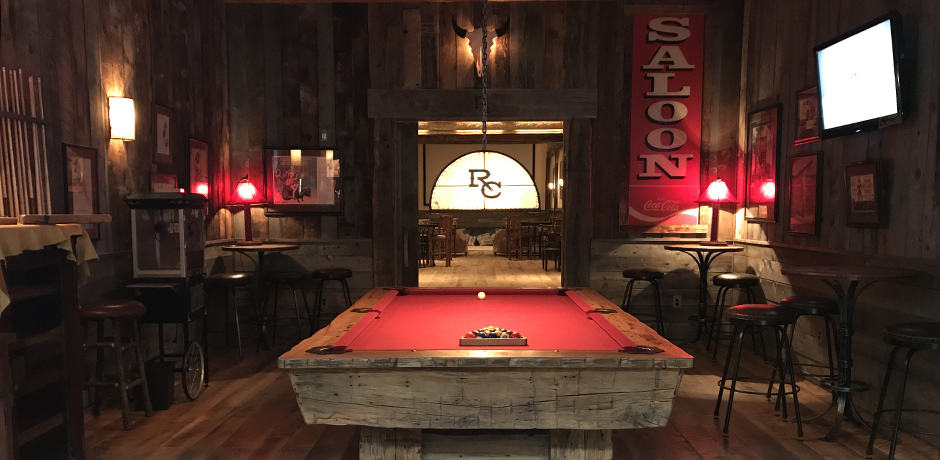 The Silver Dollar Saloon has a lots of games including pool, shuffleboard, table tennis and darts.