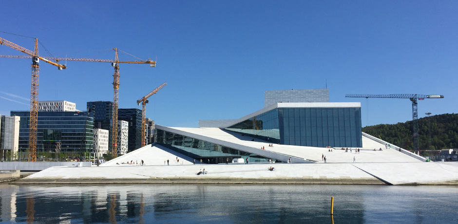 The Oslo Opera House is in the center of a lot of recent development; the Munch Museum is moving locations and will open behind the iconic structure in 2018.