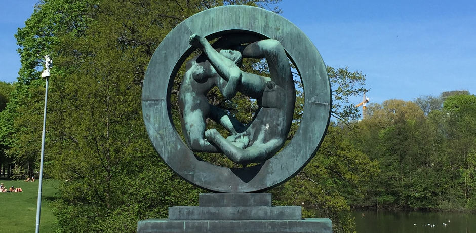 One of the more than 200 sculptures depicting the stages of life at Vigeland Sculpture Park.