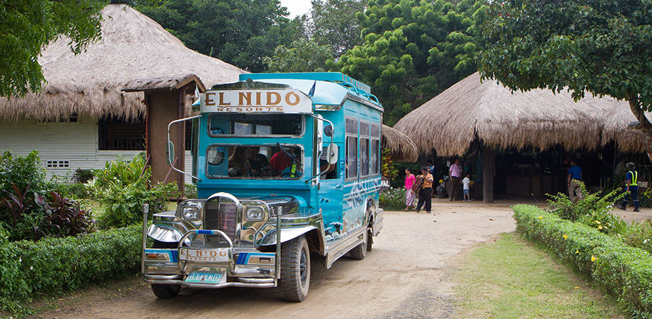 A traditional jeepney