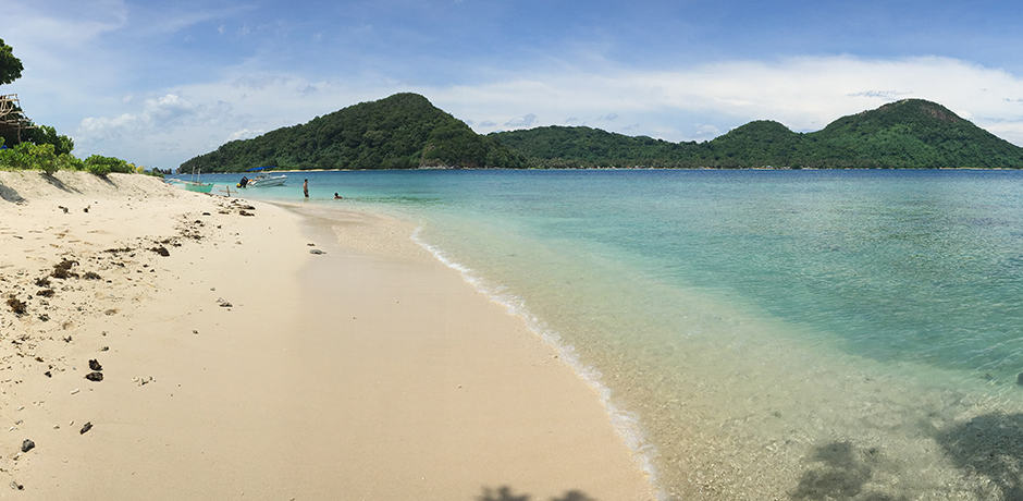 One of many remote islands in Palawan