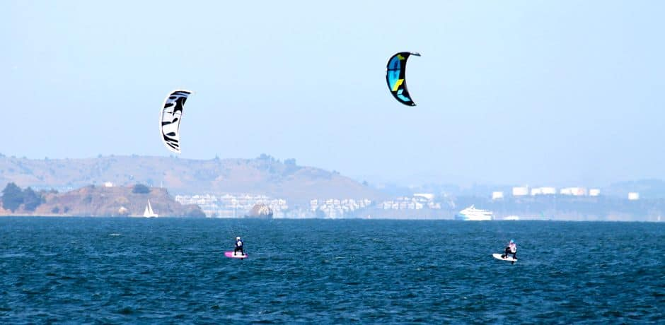 Kite Surfers in the San Francisco Bay