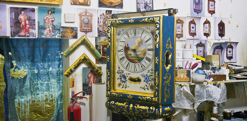 Clock gilding is an ancient art in Malta