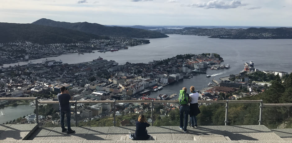 Take the funicular up Mount Fløyen for beautiful views of Bergen, Norway's second-largest city